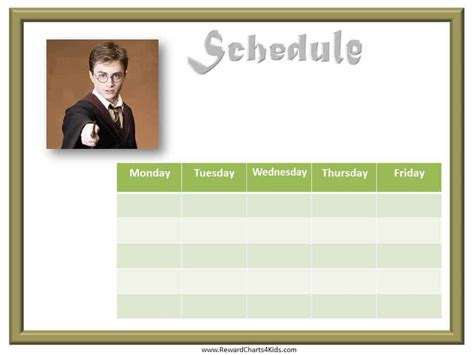 kids schedule template  weekly schedule template