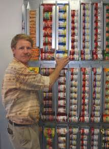 Canned Food Storage System for On Wall