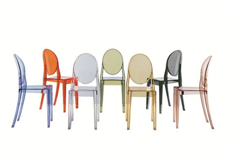 chaises philippe starck ghost chair by philippe starck for kartell