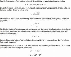 Parameter Berechnen : rechteck flache berechnen rechteck flache berechnen das rechteck mathe rechnen geometrie ~ Themetempest.com Abrechnung