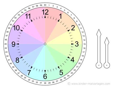 Uhr Zum Basteln Uhren Und Uhrzeit Arbeitsbl 228 Tter Lernuhr Basteln