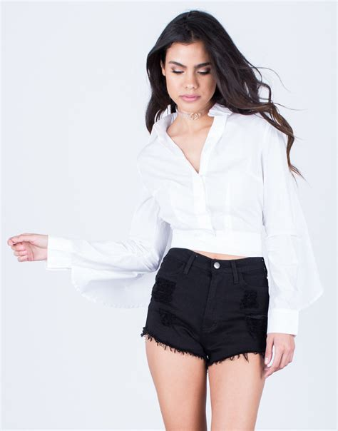 up blouse cropped button up blouse white blouse button up
