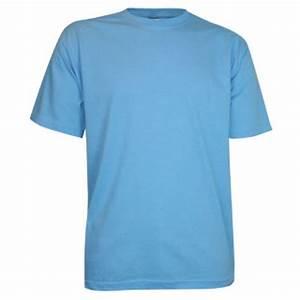 Goedkope lichtblauwe T-shirts (100% katoen) - 4XL Webshop ...