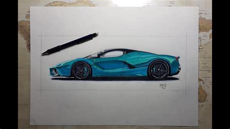 ferrari laferrari realistisch zeichnen wie zeichnet