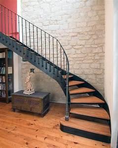 photo dt33 esca39droitr 1 4 tournant escalier d With superb peindre des marches d escalier en bois 1 deco escalier ancien