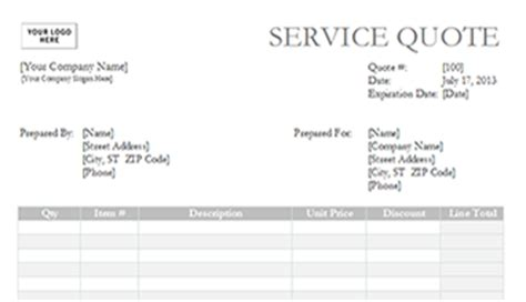 service quote template construction quote template free construction quote template excel