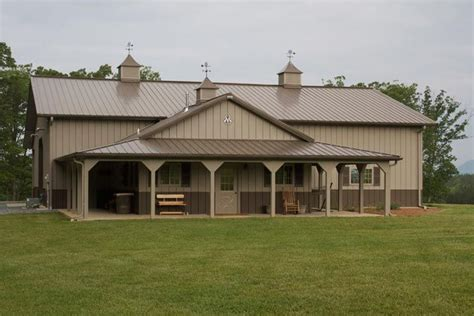 One Of A Kind Metal Building Home W Porch & Farm Shop