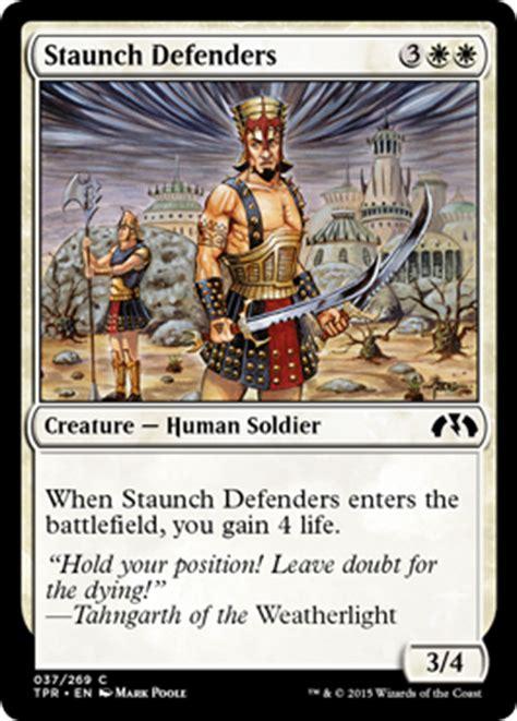 mtg defender commander deck staunch defenders from tempest remastered spoiler