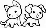 Coloring Pages Animal Cat Dog sketch template