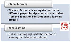 Online Learninge: Difference Between Distance Learning And ...