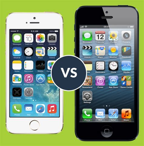 iphone 5 vs 5s apple iphone 5s vs iphone 5