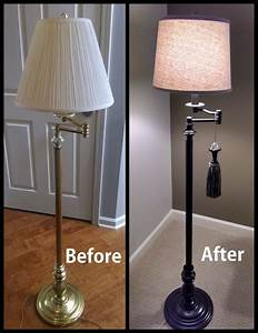 painted brass floor lamp upcycled google search items With painting brass floor lamp