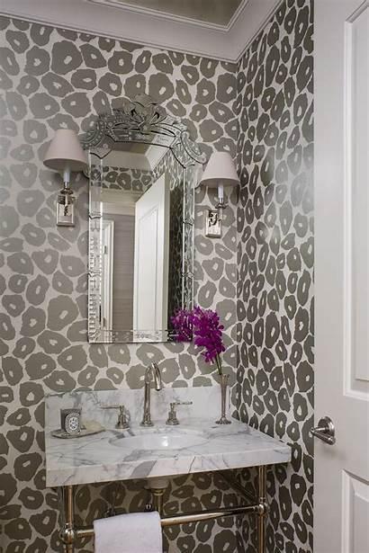 Powder Leopard Gray Glam Walls Modern Mirror
