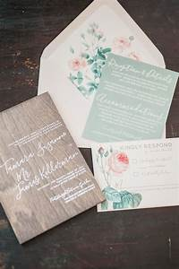 Wood wedding invitation real wooden invites customizable for Wedding invitations with real flowers