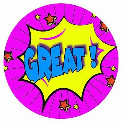 Reward Stickers Words Superhero Comic Teacher Praise