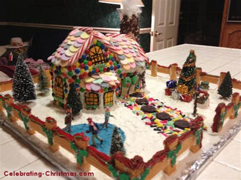 victorian gingerbread house celebrating christmas