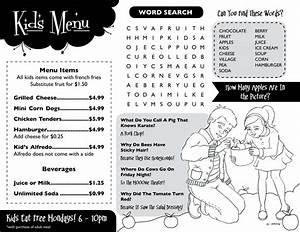 meal planning template printable With free printable menu templates for kids