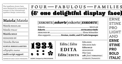 Browse Fonts In The Fonts By Women Font Pack