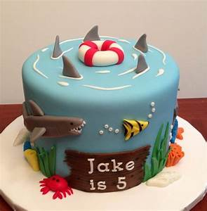 Ocean/shark themed cake Inspired by several cakes on