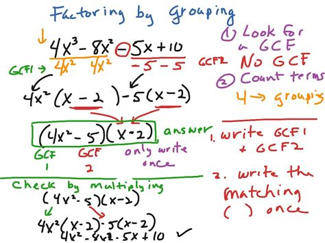 Showme  Factoring By Grouping And Factoring Trinomials