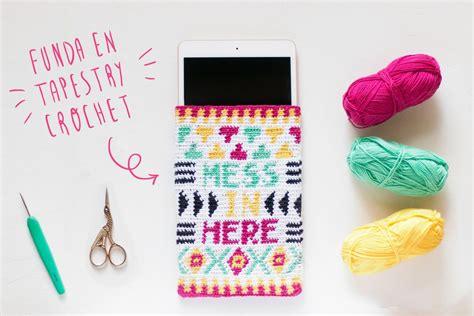 funda en tapestry crochet al estilo wayuu crochet tapiz