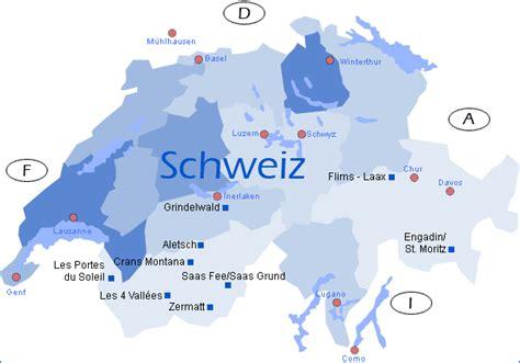 schweiz skigebiete karte kleve landkarte