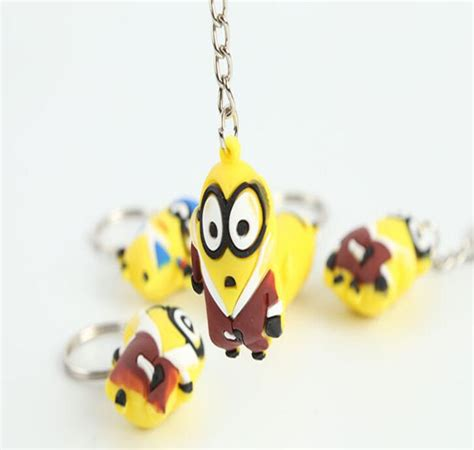 china customized 3d minion silicone keychain keyrings suppliers and manufacturers factory