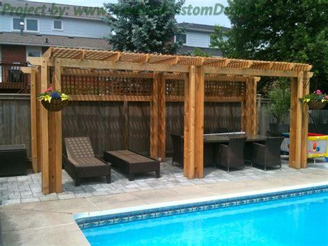 pool pergola toronto custom deck design pergolas fences outdoor kitchens landscaping interlocking