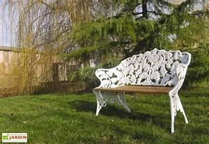 Banc De Jardin Bois : banc de jardin fonte d aluminium et bois foug re dommartin ~ Dode.kayakingforconservation.com Idées de Décoration