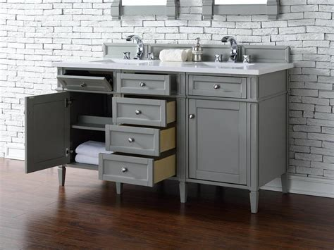 gray double sink vanity james martin brittany collection 60 quot double vanity urban gray