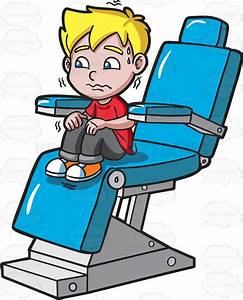 A Terrified Kid At The Dentist Cartoon Clipart - Vector Toons