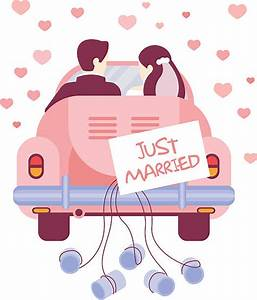 Just Married Car Clipart - ClipartXtras