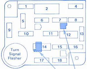 Ford Sho Primary 1994 Engine Fuse Box  Block Circuit Breaker Diagram