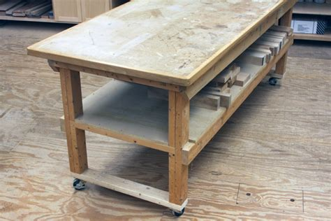 workbench hardwood top plywood mdf woodworkers