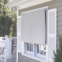 outdoor window shades Coolaroo Premier Series Outdoor Roller Solar Shade ...