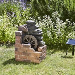 Fontaine Cascade Bassin : fontaine solaire cascade moulin eau heywood solairepratique ~ Premium-room.com Idées de Décoration