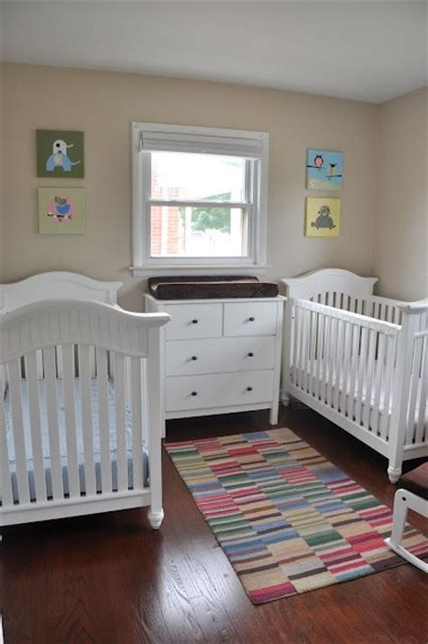 soft  colorful boy  girl twin nursery furniture