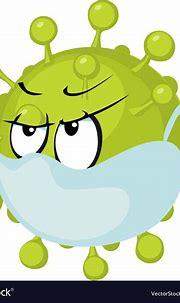 Tamed corona virus cartoon - covid - 19 Royalty Free Vector