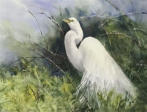 Regal Egret By Terrece Beesley (watercolor Painting