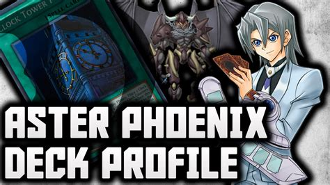 yu gi oh gx aster phoenix character deck profile youtube
