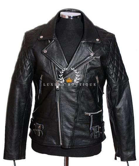 cowhide leather jackets outlaw black s biker motorcycle cruiser real cowhide