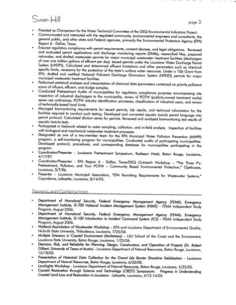 Three Page Resume by Susan Hill Resume Susan Hill Resume Page 1 Of 3 Susan