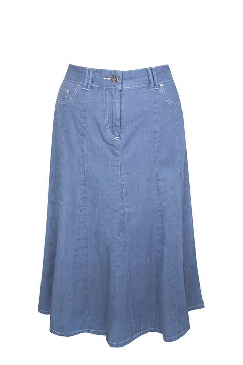 light blue jean skirt dash lightweight denim skirt in blue light blue lyst