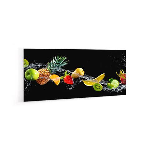 eau de cuisine crédence fruits exotiques verre et alu credence