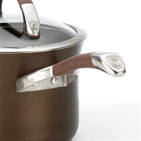 cookware circulon symmetry nonstick anodized chocolate piece hard pans pots