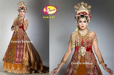 Kebaya Kode 2233 kebaya gaun pengantin kode v 87 by venza kebaya wedding