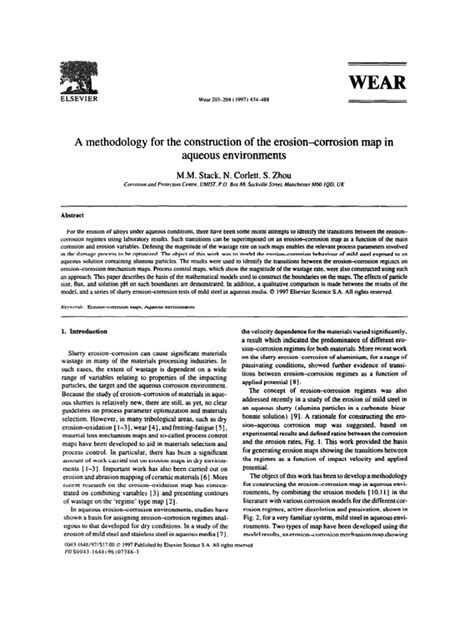 A Methodology for the Construction of the Erosion