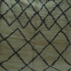 tapis beni ouarain noir et blanc grande taille With tapis berbere grande taille