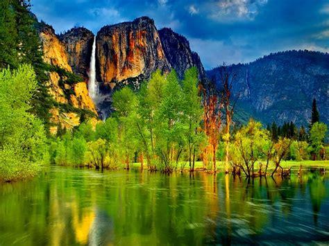 wallpaper hd lake mountain waterfall wallpaperscom