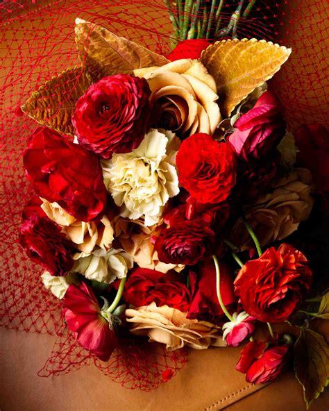 34 Romantic Red Wedding Bouquets Martha Stewart Weddings